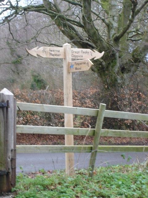 Fancy signpost