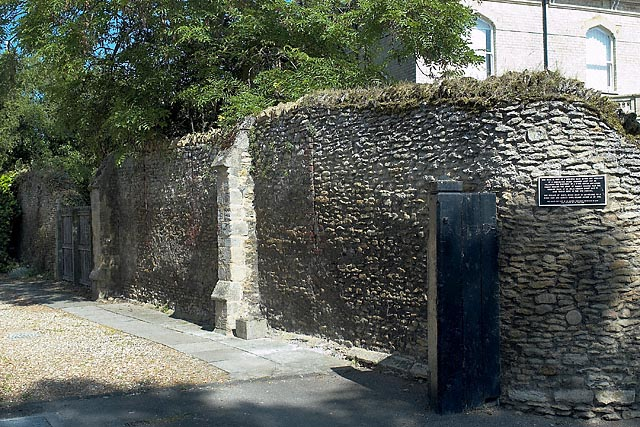 Priory Wall, remains of a wall in a medieval Benedictine Priory dating from 1017