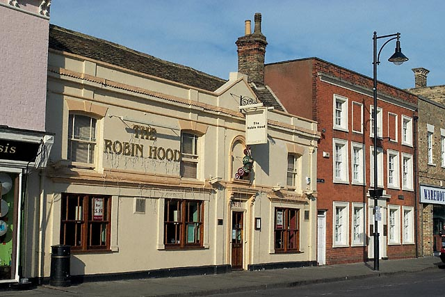 "The Robin Hood Public House, and to the right the ""Red House"", St Ives"