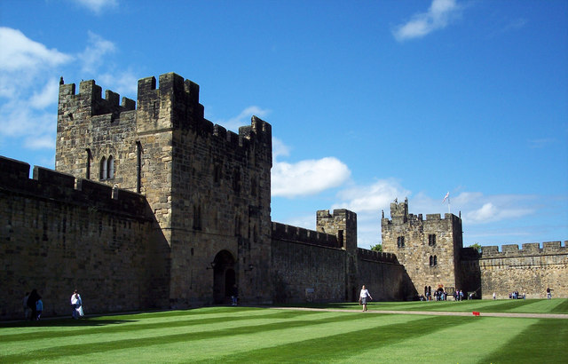 Beautiful Lawns at Alnwick Castle