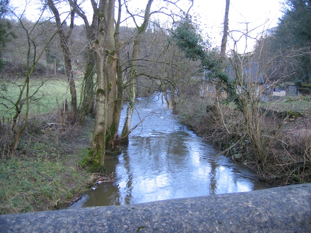 River Alyn Downstream from Pont Newydd