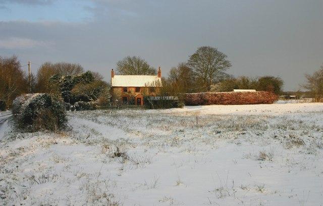 The Cottage, Oxwick Road across 'Bidewells' field
