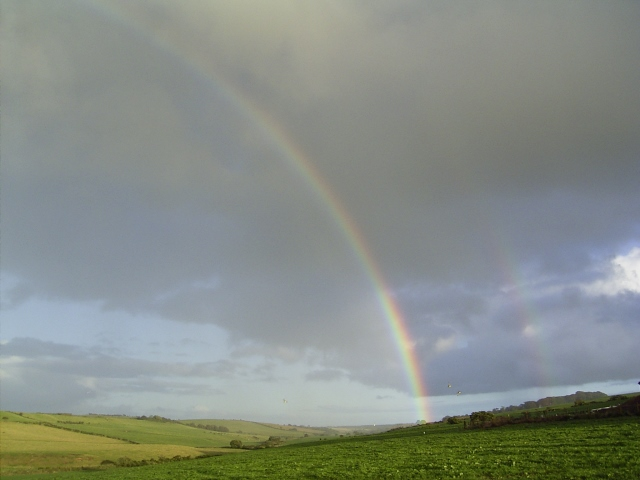 Rainbow from Low Knockglass Cottage