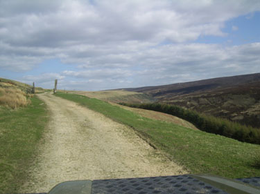 Open gate on Road used as Public Path, Woodhead Pass