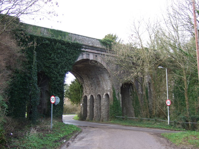Grimstone railway viaduct  over Sydling Water and road