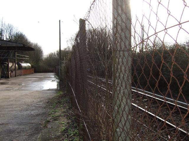 Grimstone Halt old  railway station yard