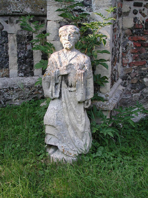 St Peter & St Paul, Halvergate, Norfolk - Statue