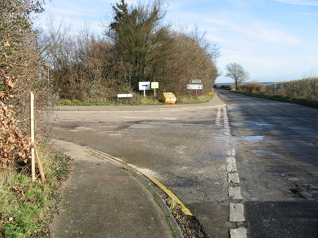 Junction of Cooting Road and Spinney Lane, Aylesham.