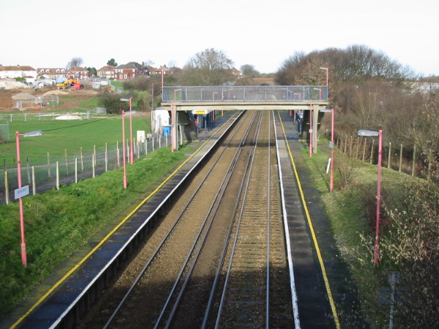 Aylesham railway station, looking NW