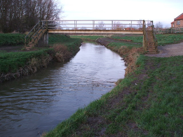 Footbridge over the River Foss at Earswick Village, York