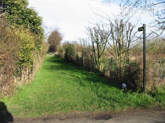 Footpath heading NE from Bekesbourne Lane.