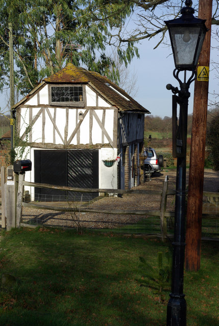 """""""Tudor"""" garage on Markstakes Lane"""