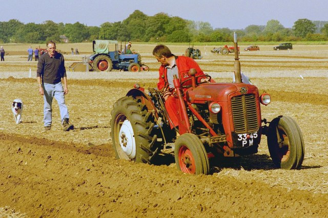 Ploughing demonstration at Vintage Tractor Meet