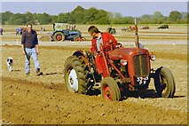TF9322 : Ploughing demonstration at Vintage Tractor Meet by John Robertson