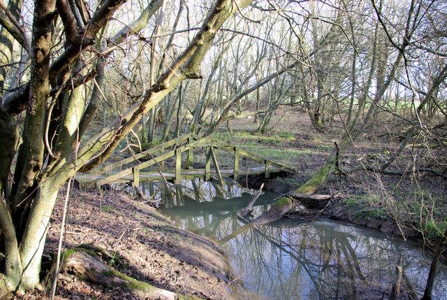 Footbridge near Wilding Wood