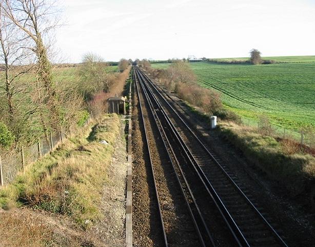 Railway line, looking SE (Dover bound).
