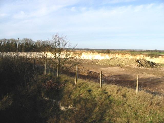 Disused chalk quarry, Brambling.