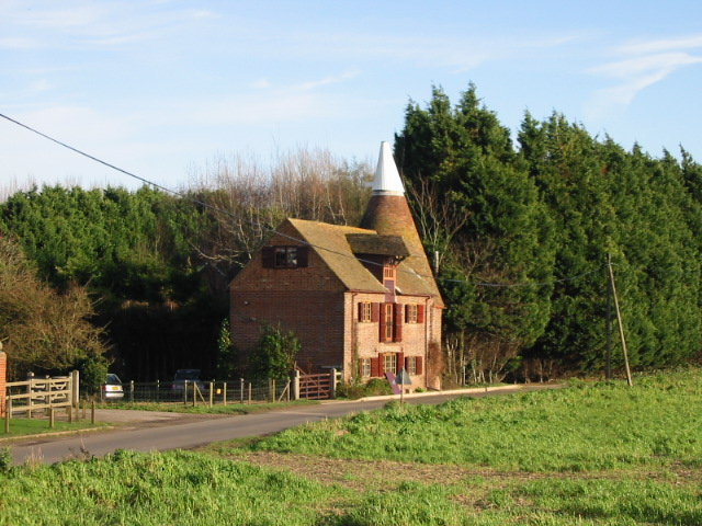 Oast house on Wingham Well Lane.