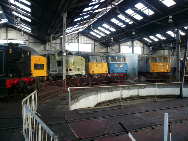 Barrow Hill Locomotives in Roundhouse