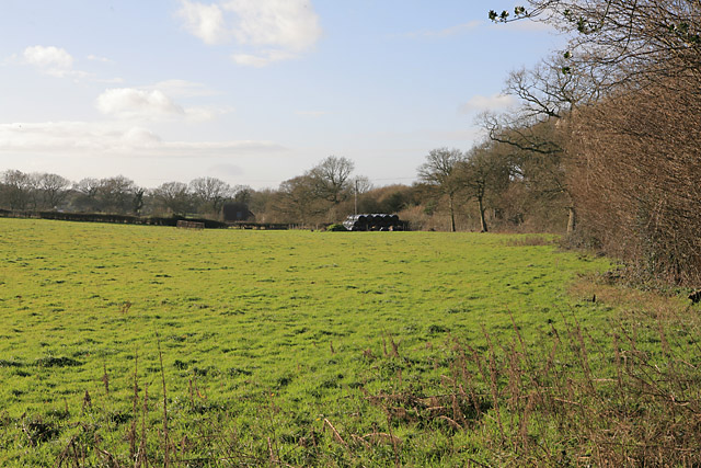 View across fields to Barnetts Wood Lane