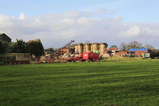 Farm machinery at Upper Soldridge Farm