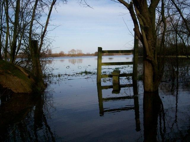Flooded Field near Prior's Norton
