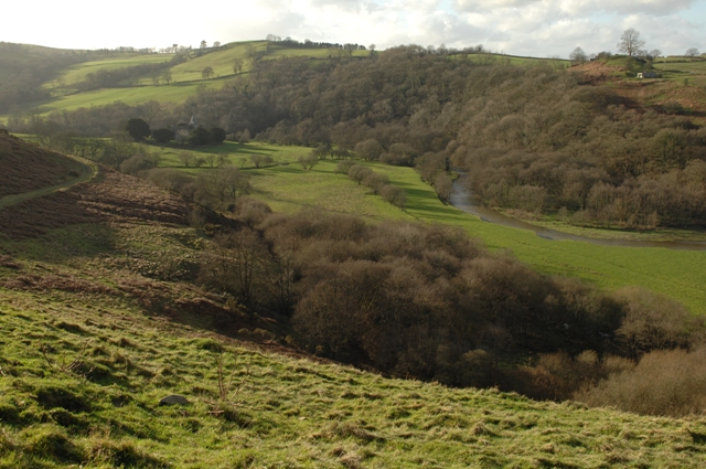 River Ithon flowing through the valley
