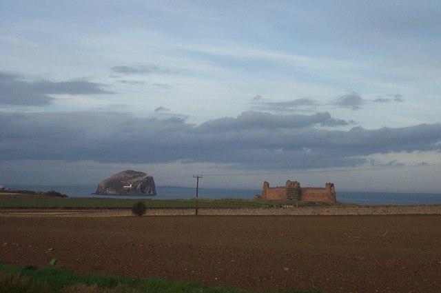 View towards Tantallon Castle