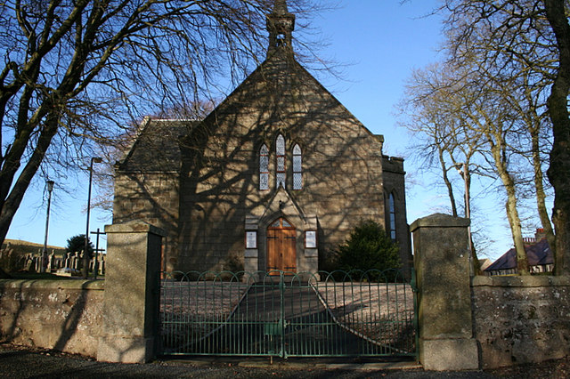 South facing entrance to Church at New Pitsligo.