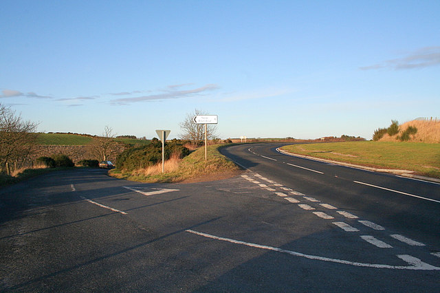 Junction on the A981 north of Strichen.