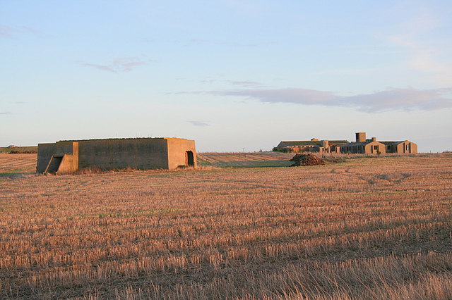 Derelict military bunkers and camp by Smiddyseat.
