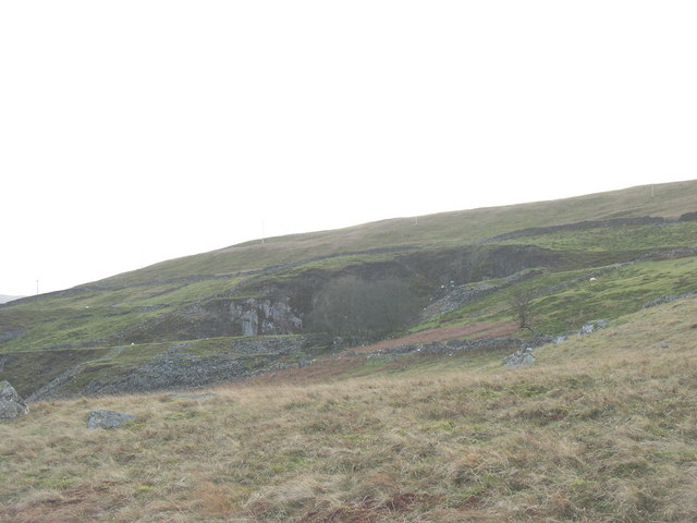 The pit of Bwlch-y-groes Quarry from the Ffridd