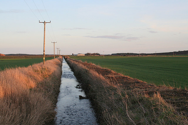 Eastwards from the Old Bridge of Tyrie.