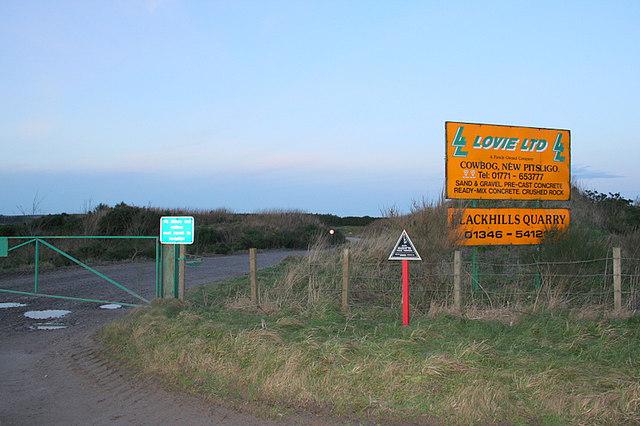 Lane to Blackhills Quarry.