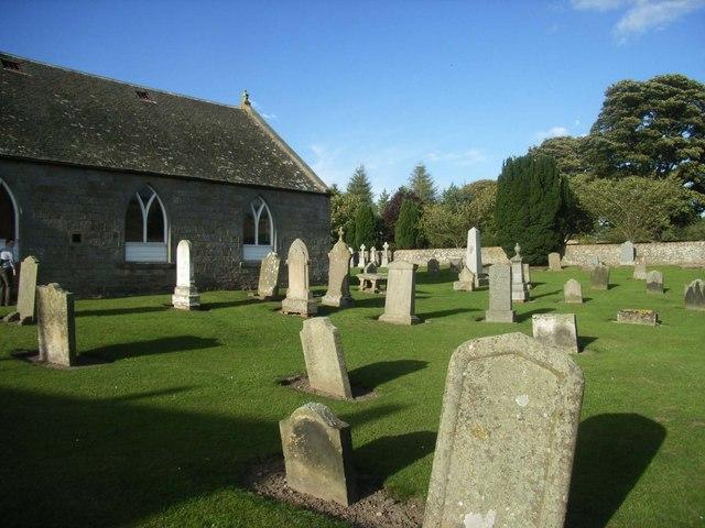 Logie churchyard