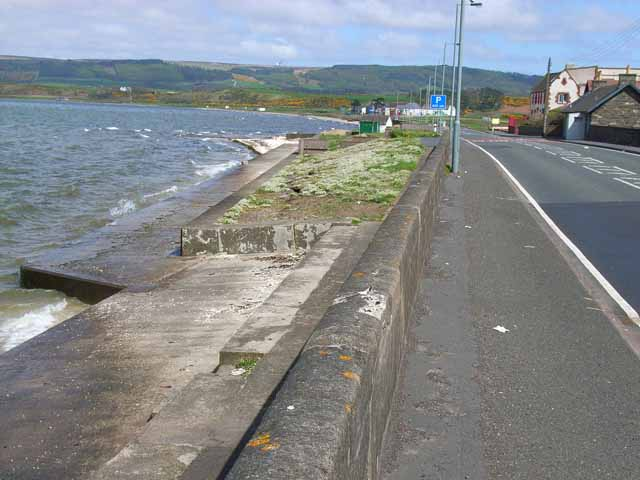 A77 and the head of Loch Ryan