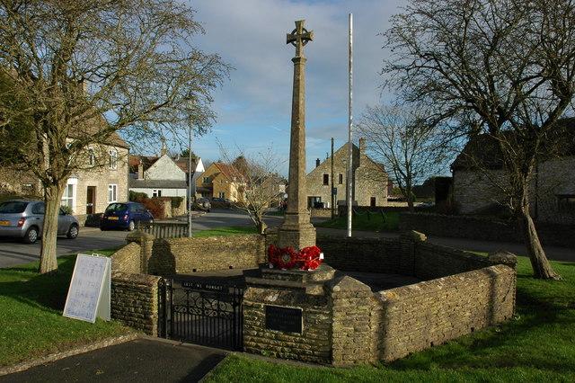 War Memorial in Hawkesbury Upton