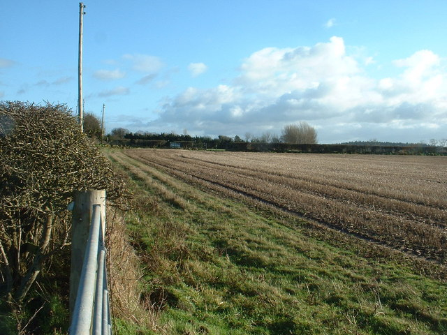 Farmland near Sandford Hall