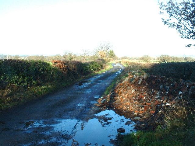 Lane near Grug Hill