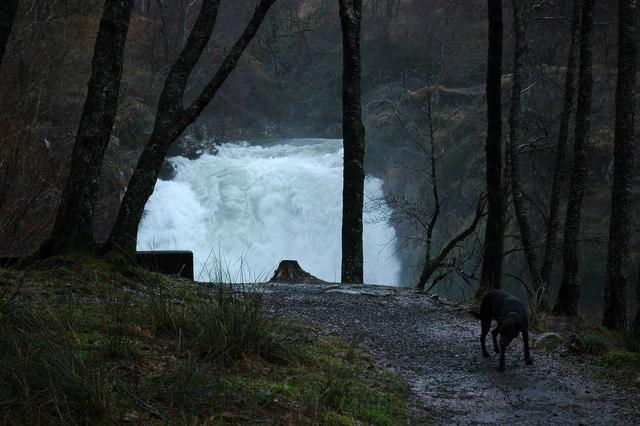 Falls of Falloch getting bigger!