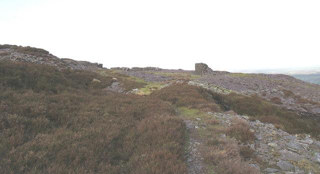 Causeway on the public footpath through Cefn Du Quarry