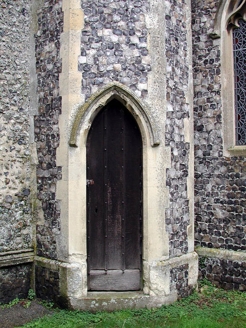 All Saints, Beighton, Norfolk - Door to bell tower