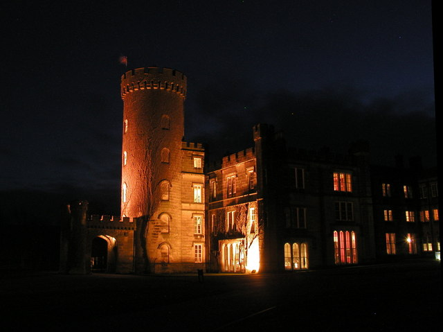Swinton Park Hotel by night