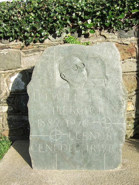 D.J.Williams memorial stone
