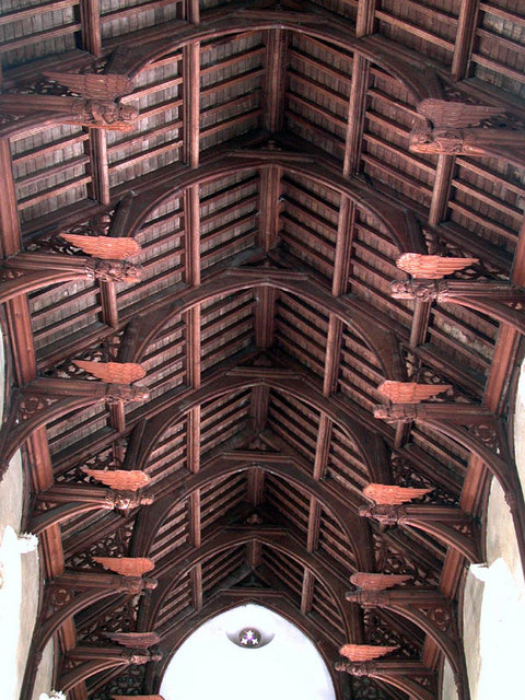 St Mary, Martham, Norfolk - Hammerbeam roof