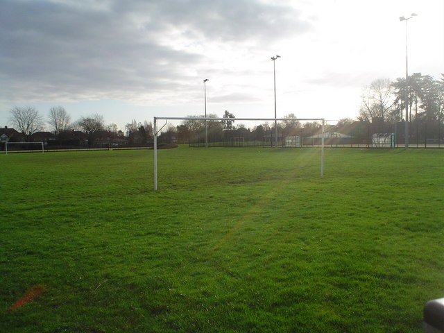 Bedford School sports fields from Brickhill Drive