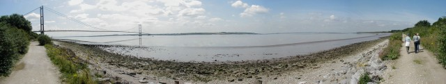 Panorama of the River Humber including the Humber Bridge