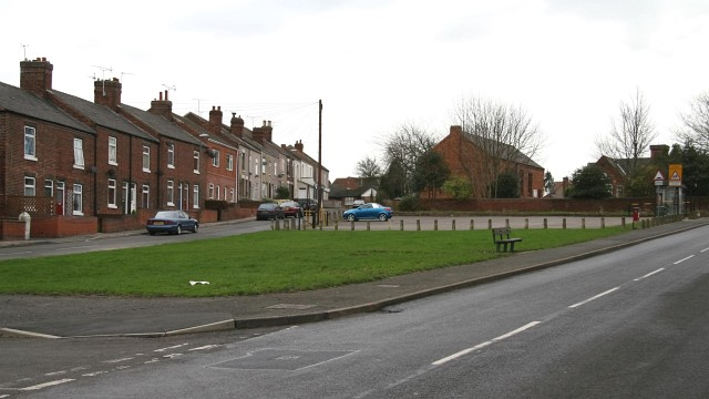 Village green and car park