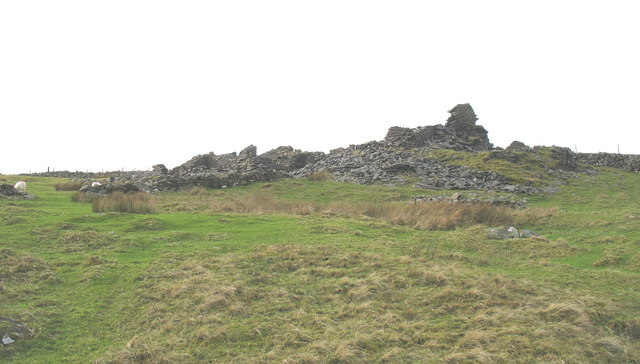 The ruins of Barics Mawr