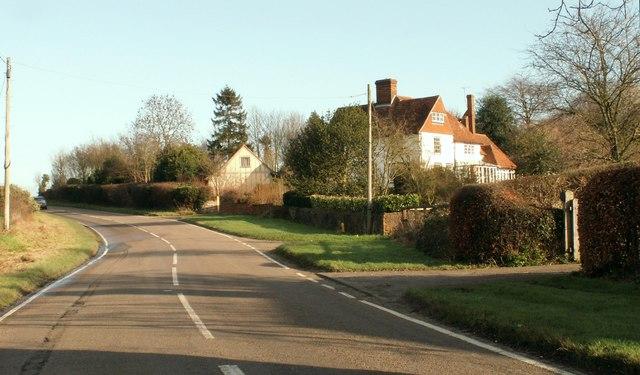 The B.1057 near Church End